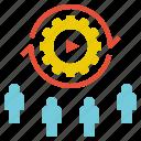 operation, performance, procedure, team, teamwork icon