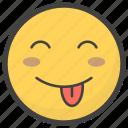 emoji, emotag, emoticon, emotion, tongue out emoji icon