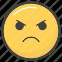 angry emoji, emoji, emotag, emoticon, emotion icon