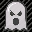 angry ghost face, emoji, emotag, emoticon, emotion icon