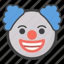 clown, jester, joker, pierrot, smiley icon