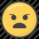 aggressive emoji, emoji, emotag, emoticon, emotion icon