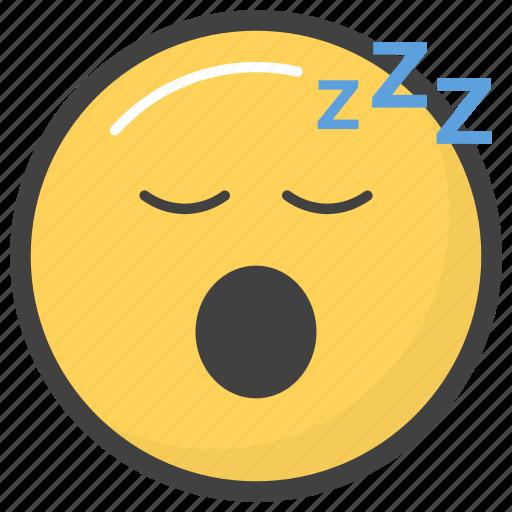 emoji, emotag, emoticon, emotion, sleeping emoji icon
