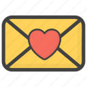 heart mail, love letter, love mail, love message, valentines day mail icon