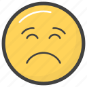 emoji, emotag, emoticon, emotion, sad emoji icon