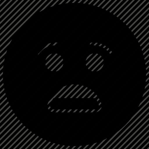emoji, emotag, emoticon, emotion, shocked face icon