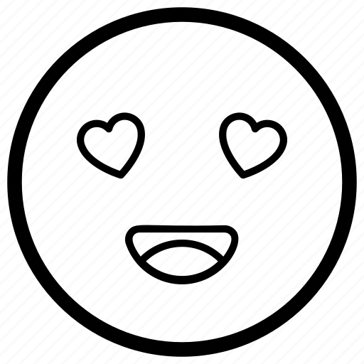 emoji, emotag, emoticon, emotion, heart eyes face icon