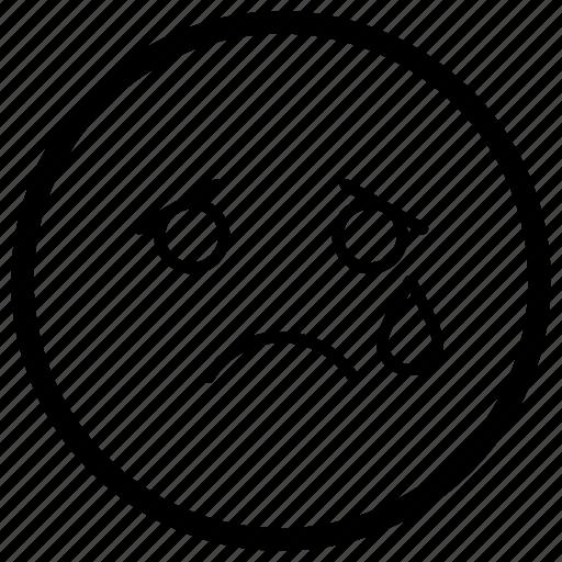 cry face, emoji, emotag, emoticon, emotion icon