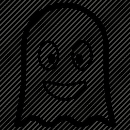 emoji, emotag, emoticon, emotion, smiley ghost icon