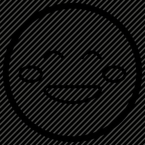 emoji, emotag, emoticon, emotion, flushed face icon