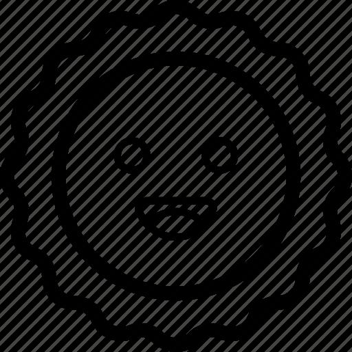 emoji, emotag, emoticon, emotion, sun emoji icon