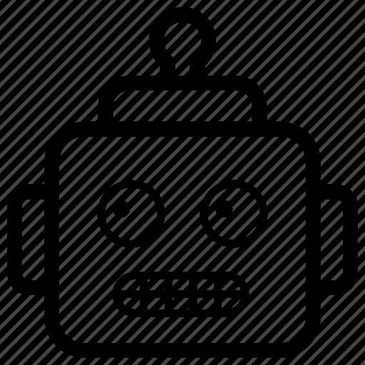 emoji, emotag, emoticon, emotion, robot face icon