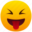 tongue, emoticon, laughing, funny, smile, face, happy