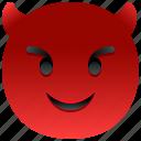 demon, evil, emoji, emoticon, feeling, face