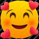 in, love, emoji, emoticon, feeling, face, smile