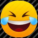 laughing, smile, face, happy, fun, emoji, emoticon