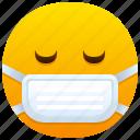mask, emoji, emoticon, feeling, medical, face, protection