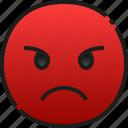 angry, emoji, emoticon, feeling, face