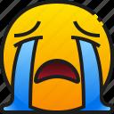 sad, sadness, emoji, emoticon, crying, cry, face