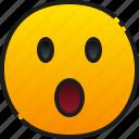 wow, emoji, emoticon, feeling, face, smile, surprise