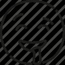 hungry, emoticon, smile, face, fun, emoji, drool