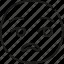sarcastic, emoji, emoticon, feeling, face, boring