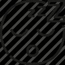 sleep, emoji, emoticon, feeling, sleeping, face