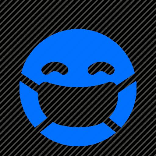 emoji, emoticon, emotion, sick icon