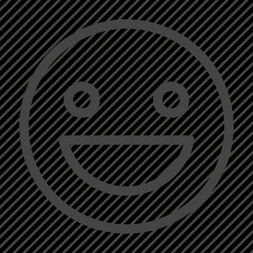 emoji, emoticon, expression, face, feeling, happy, smiley icon