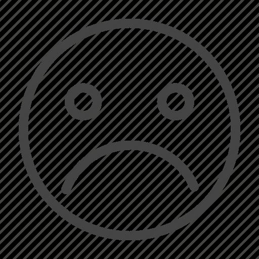 Emoji, emoticon, emotion, expression, face, sad, smiley icon - Download on Iconfinder