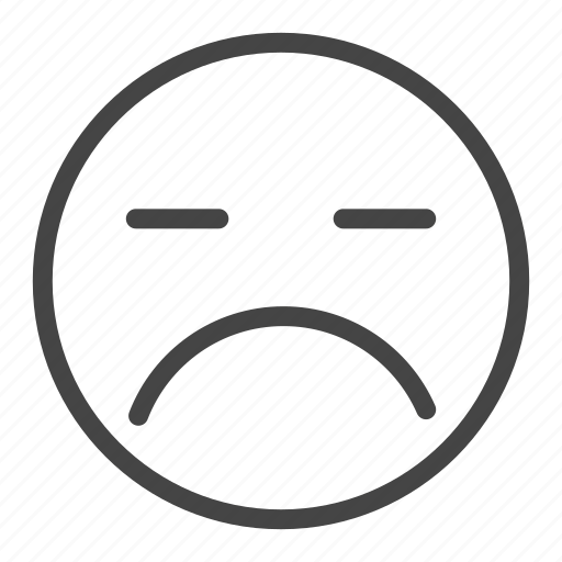 Emoji, emoticon, emotion, expression, face, feeling, sad icon - Download on Iconfinder