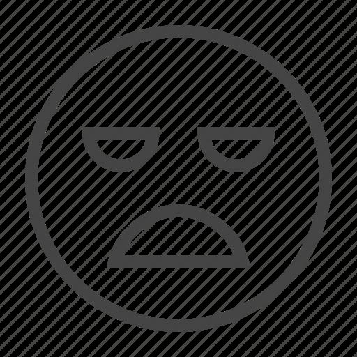 Boored, emoji, expression, face, feeling, sad, smile icon - Download on Iconfinder