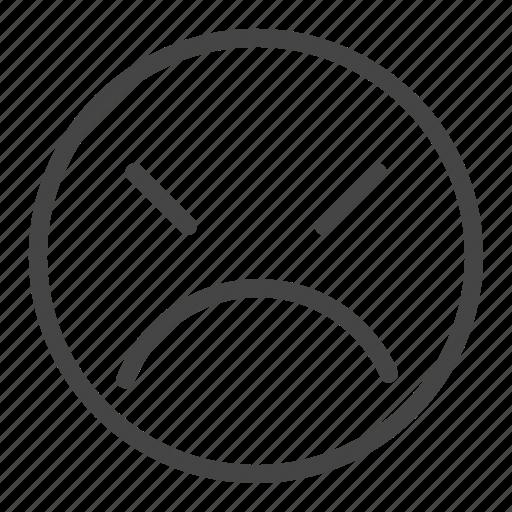 Angry, avatar, emoji, emoticon, expression, feeling, sad icon - Download on Iconfinder