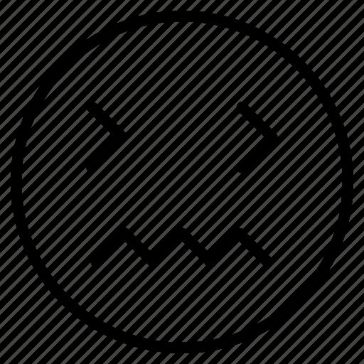 Angry, coma, emoji, emoticon, face, irretating, sad icon - Download on Iconfinder