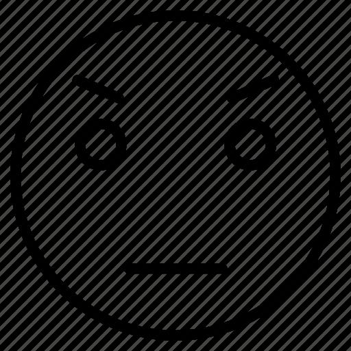 Angry, emoji, emoticon, face, sad icon - Download on Iconfinder