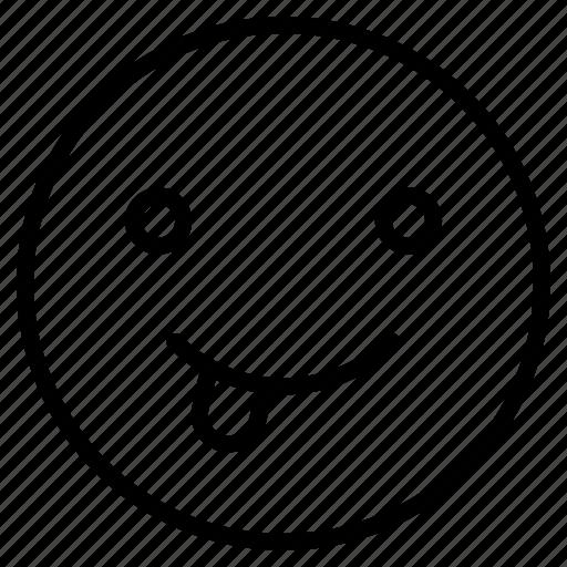 Emoji, emoticon, emotion, face, happy, naughty icon - Download on Iconfinder