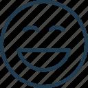 emoji, emoticon, emotion, face, lol, nice, smile icon