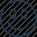emoji, emoticon, emotion, face, happy, nice, smile icon