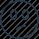emoji, emoticon, emotion, face, smile, thinking icon