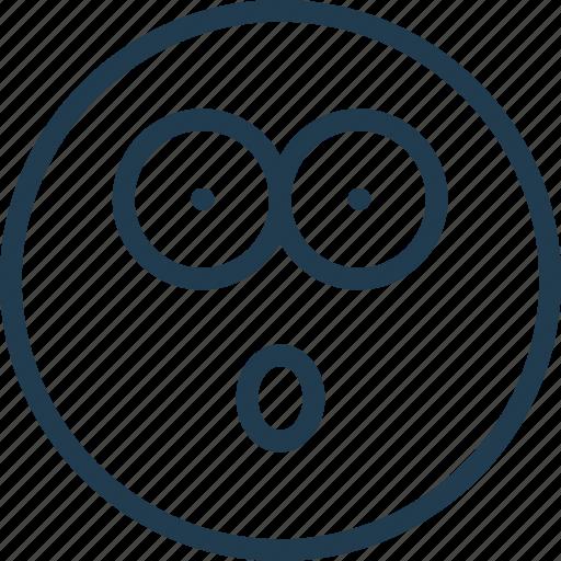 emoji, emoticon, emotion, face, smile, surprise icon