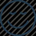 emoji, emoticon, emotion, enjoy, face, nice, smile icon