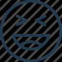emoji, emoticon, emotion, face, lol, smile icon