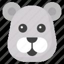 animal, emoticon, mammal, panda emoji, panda face icon