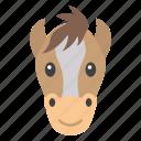 animal, emoticon, horse emoji, horse face, mammal icon