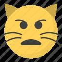confused cat face, emoji, emotag, emoticon, emotion icon