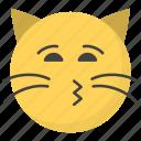 emoji, emotag, emoticon, emotion, kiss cat face icon