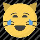 emoji, emotag, emoticon, emotion, joy cat face icon