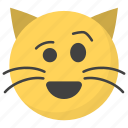 emoji, emotag, emoticon, emotion, winking cat face icon
