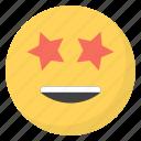 emoji, emotag, emoticon, emotion, star eyes emoji icon