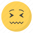 emoji, emotag, emoticon, emotion, stressed emoticon icon